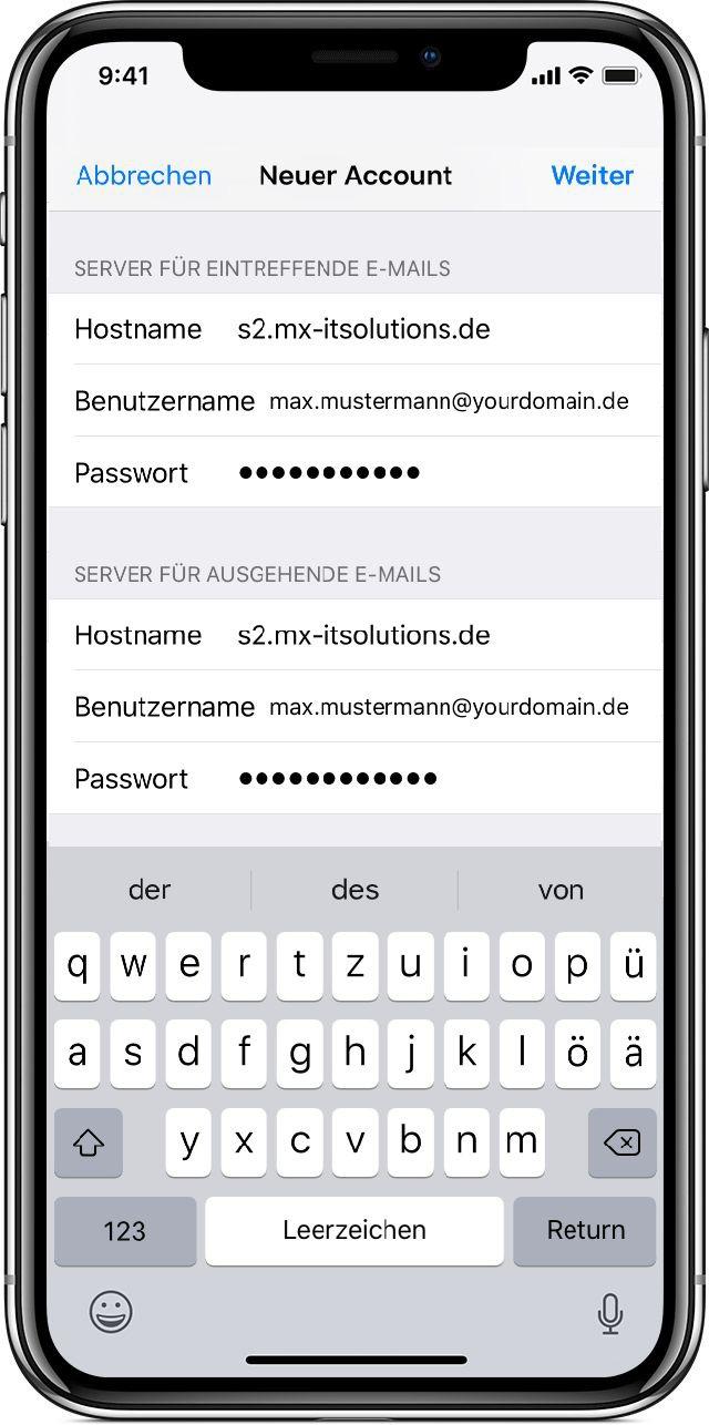 Screenshot Mail